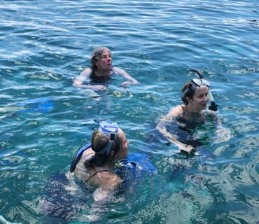 Snorkeling at Silk Caye