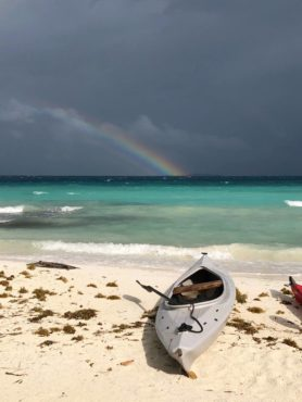 Stormy morning on Moho Caye