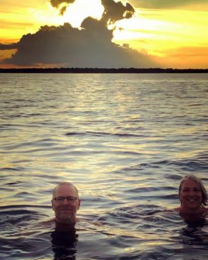 Sunset swim in the Rio Negro