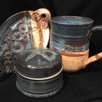 GLAZED POTTERY ITEMS