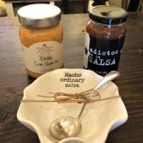 SALSA DISH AND SPOON
