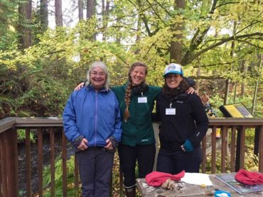 Salmon Tours volunteers at Clear Creek Trail
