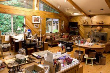 Hoflin's studio