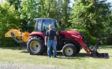 Marc Fretwell and his tractor