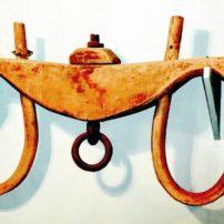 Hand-made oxen yoke