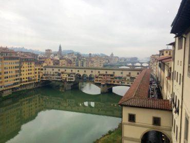 Ponte Vecchio Bridge over Arno River in Florence