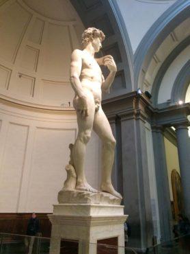 17-foot-high sculpture of David by Michelangelo