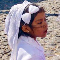 Little girl celebrating Semana Santa