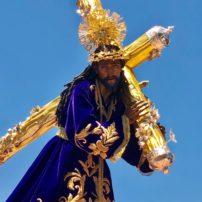 Christ statue in Semana Santa parade