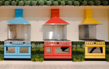 Appliances can provide a pop of color. (Photo courtesy A Kitchen That Works, LLC)