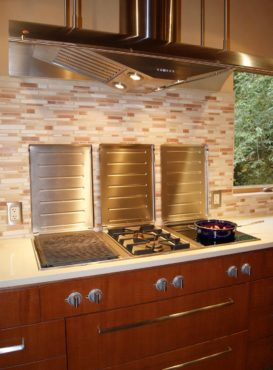 Electric grill, induction and propane domino cooktops (Photo courtesy A Kitchen That Works, LLC)