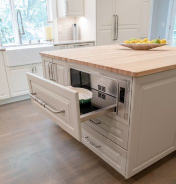 Panel-ready warming drawer (Photo courtesy A Kitchen That Works, LLC)