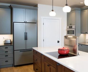 Panel-ready, French- door, counter-depth refrigerator (Photo courtesy A Kitchen That Works, LLC)