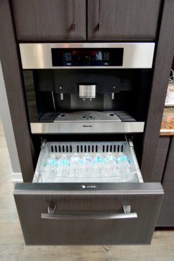 Panel-ready, under-counter refrigerator drawer (Photo courtesy Dura Supreme Cabinetry)