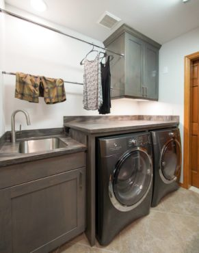 Side-by-side, front-loading laundry (Photo courtesy A Kitchen That Works, LLC)