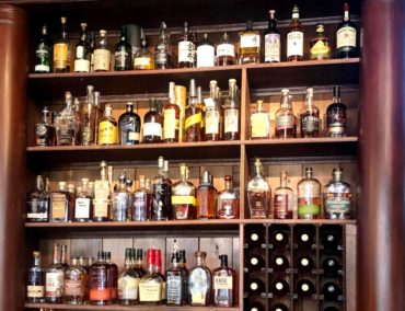 Enjoy a whiskey flight from a collection of over 50 whiskeys from around the region and the world.