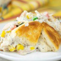 Rotisserie Chicken-Biscuit Casserole