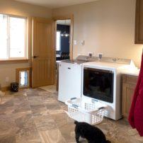 Laundry room, storage and mud room