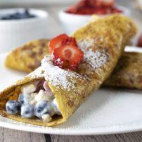 Fruity Yogurt French Toast Wraps