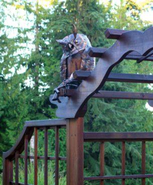 Copper owl by Port Hadlock artist Walter Massey