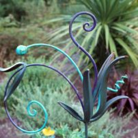 Metal sculpture by Shannon Buckner of Bent Productions