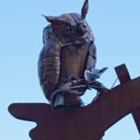 Copper owl by Walter Massey
