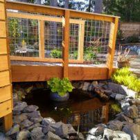 Pond at ramp entryway