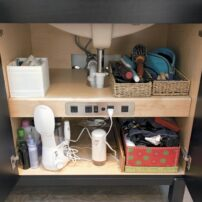 Charging station in cabinet