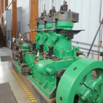 Diesel engine from seiner and sawmill