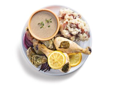 Sheet Pan Chicken with Artichokes and Onions