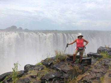 Author Lund on the Zimbabwe side