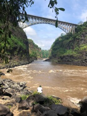 """""""Boiling Pot"""" below Victoria Falls Bridge"""