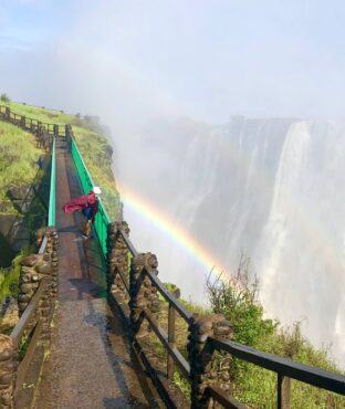 Falls view from Zambia