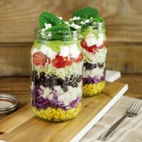 Glass Jar Layered Taco Salad