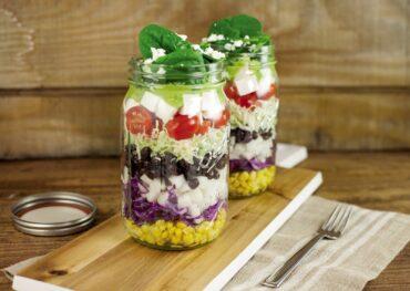 Glass Jar Layered Taco Salad