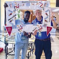 Special Olympics quilt frame