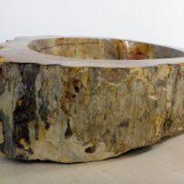 Rustic, petrified wood sink