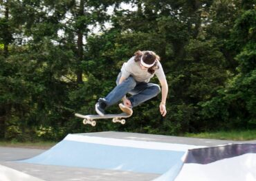 Christian Proudfoot drives from Belfair to skate at Silverdale's Gateway Skate Park.