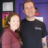 Ian Wilhelm and wife Ashley Bastian