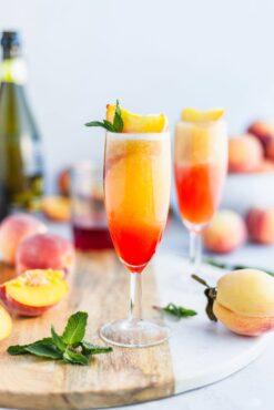 Olive and Mango Peach Bellini