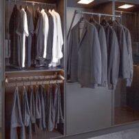 Manual wardrobe lift from Hafele