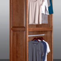 Motorized wardrobe lift from Hafele in passive position