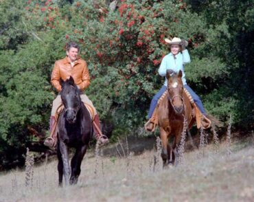 Ronald Reagan, our 40th president, and his wife, Nancy, were avid horse riders.