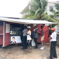 Locals line up early for the best Indian roti.