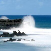 Crashing waves at Gris Gris Beach