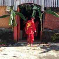 Local boy preparing for Hindu festival