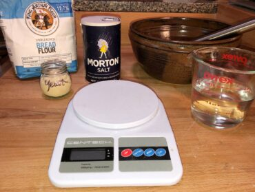 A digital scale is helpful for measuring ingredients.