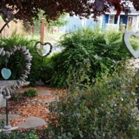 Sherry Kanode's 'Heart Garden' displays her collections.