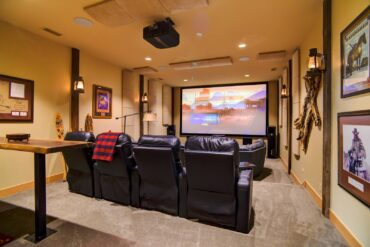 The ultimate home theater custom designed by Nuts About Hi-Fi. Featuring a full Atmos system, 8K JVC projector and a 178-inch Screen Innovations screen.