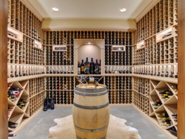 Extensive wine cellar in the basement